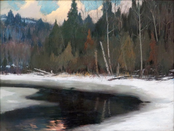 Maurice Cullen, R.C.A. 1866-1934, Twilight in the Laurentians