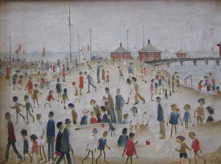 Laurence Stephen Lowry  Lytham Pier, c. 1943