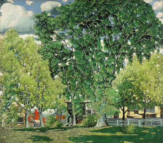 Marc-Aurèle Fortin (1888-1970), Landscape, Ahuntsic, c. 1923-1930. Oil on canvas, 122.7 x 140.3 cm. National Gallery of Canada