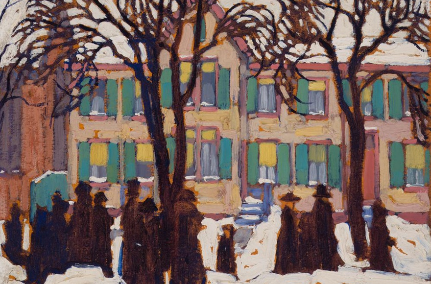 FEATURED PAINTING: LAWREN HARRIS, Return from Church, 1919. BY CHARLES C. HILL
