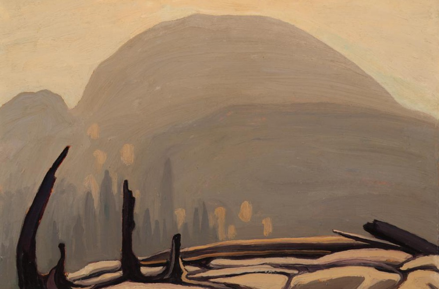 Featured Painting: Lawren Harris Morning Sun Over Hill, Lake Superior (Lake Superior Sketch XXVII) 1922