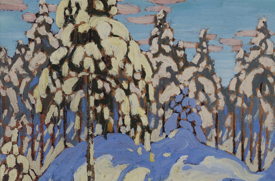 Featured Painting: LAWREN S. HARRIS, Snow Laden Trees, c. 1916. By Charles C. Hill
