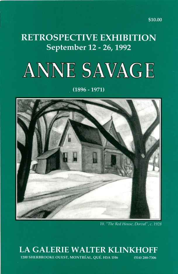 Anne Savage (1896-1971) Retrospective Exhibition