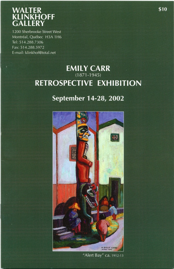 Emily Carr (1871-1945) Retrospective Exhibition