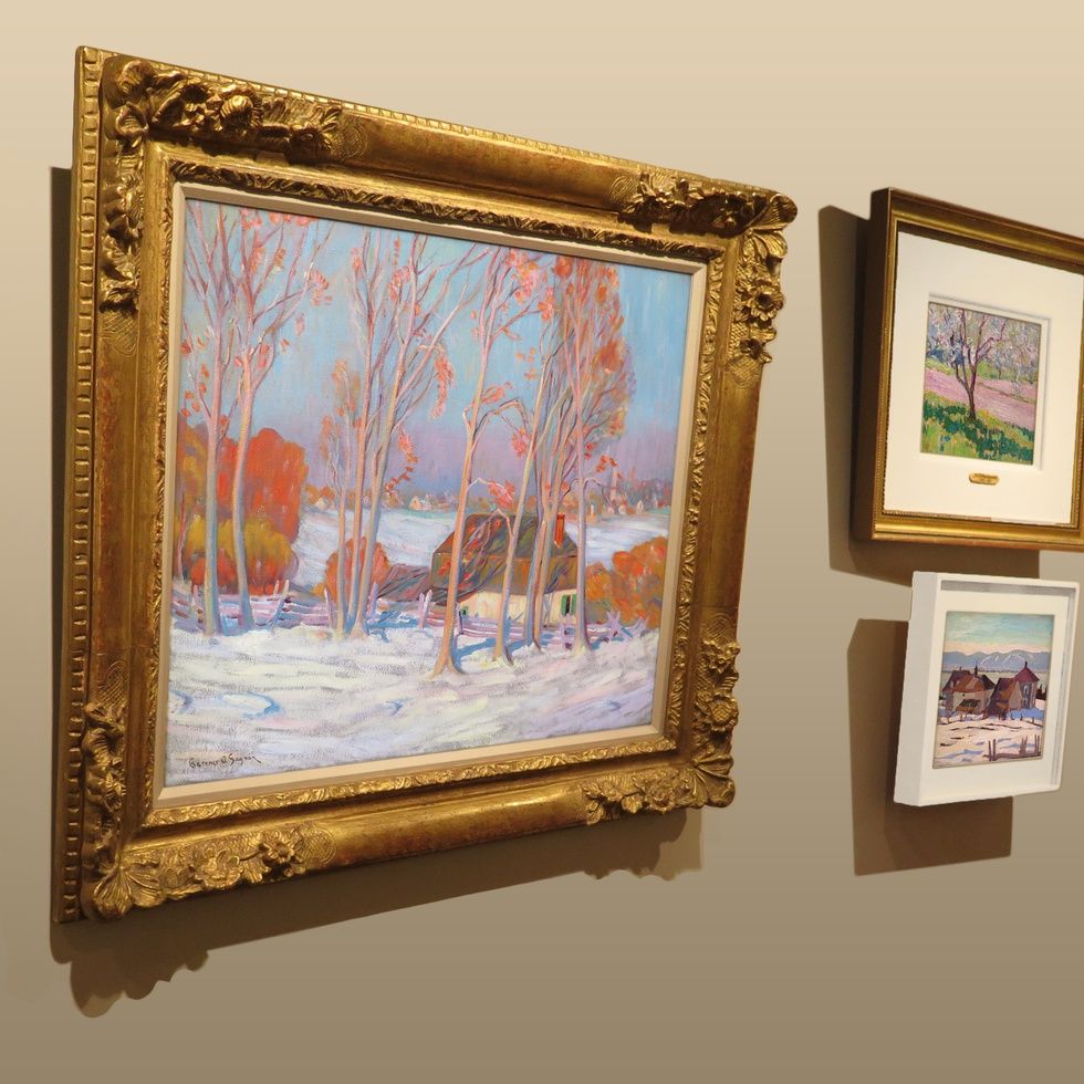 Rare and Striking Clarence Gagnon Canvas at Alan Klinkhoff Gallery
