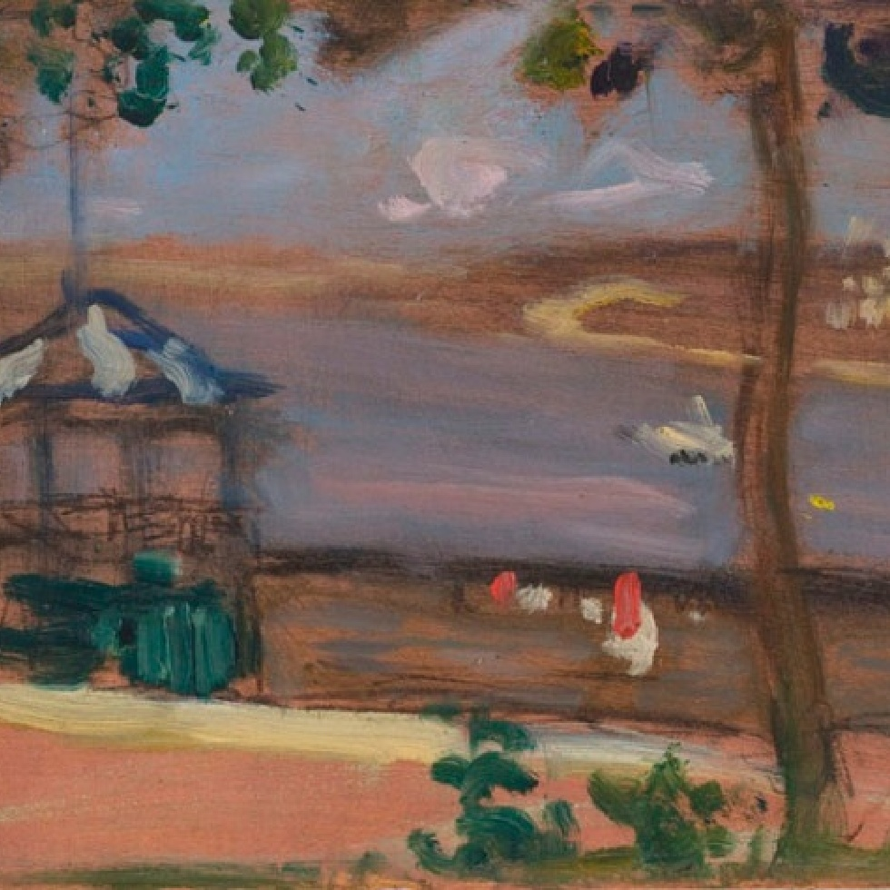 Klinkhoff Sells Rare Morrice Panel Painted in Canada-A Pochade of Dufferin Terrace