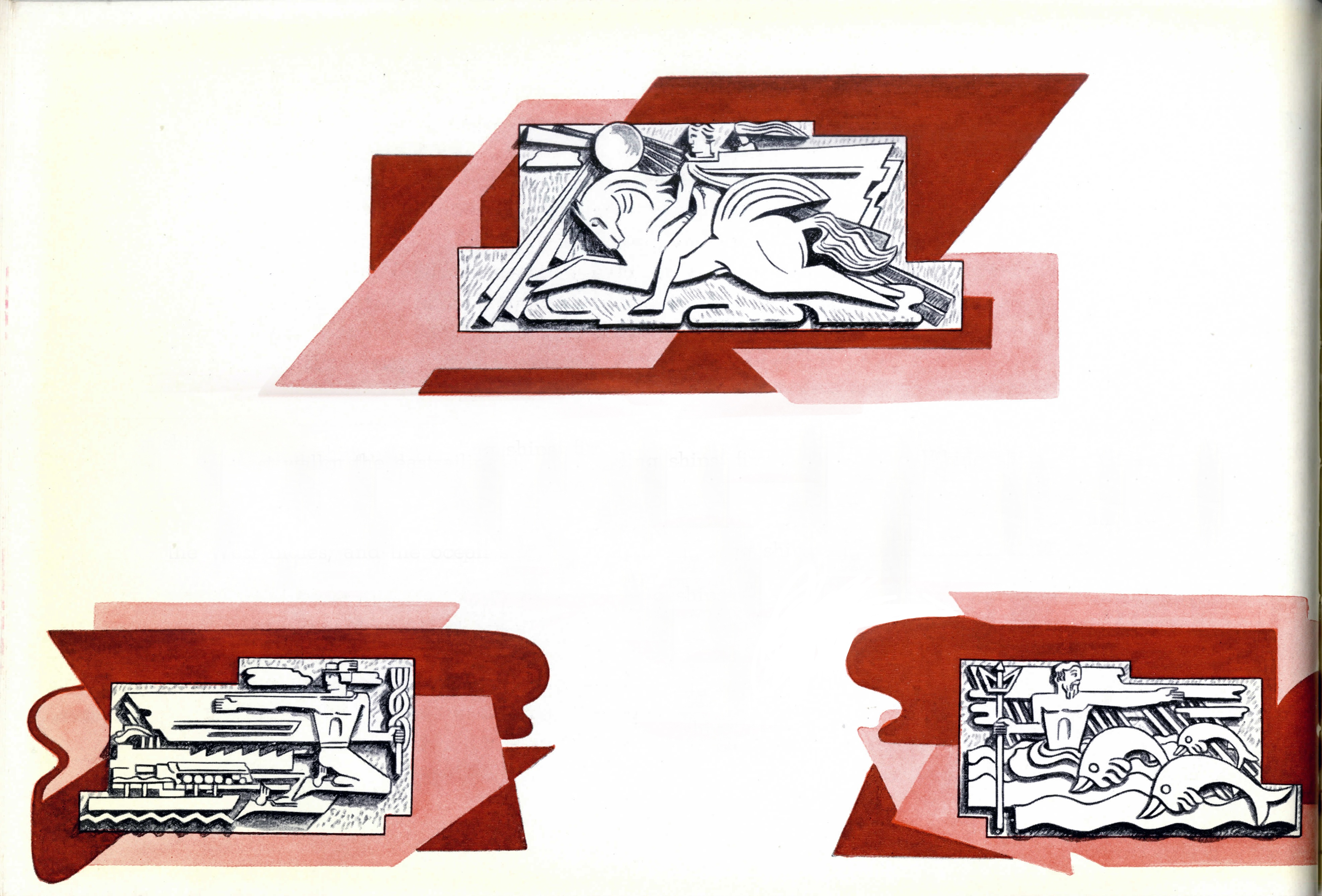 Bas-Relief Works by Brandtner at the CN Montreal Terminal