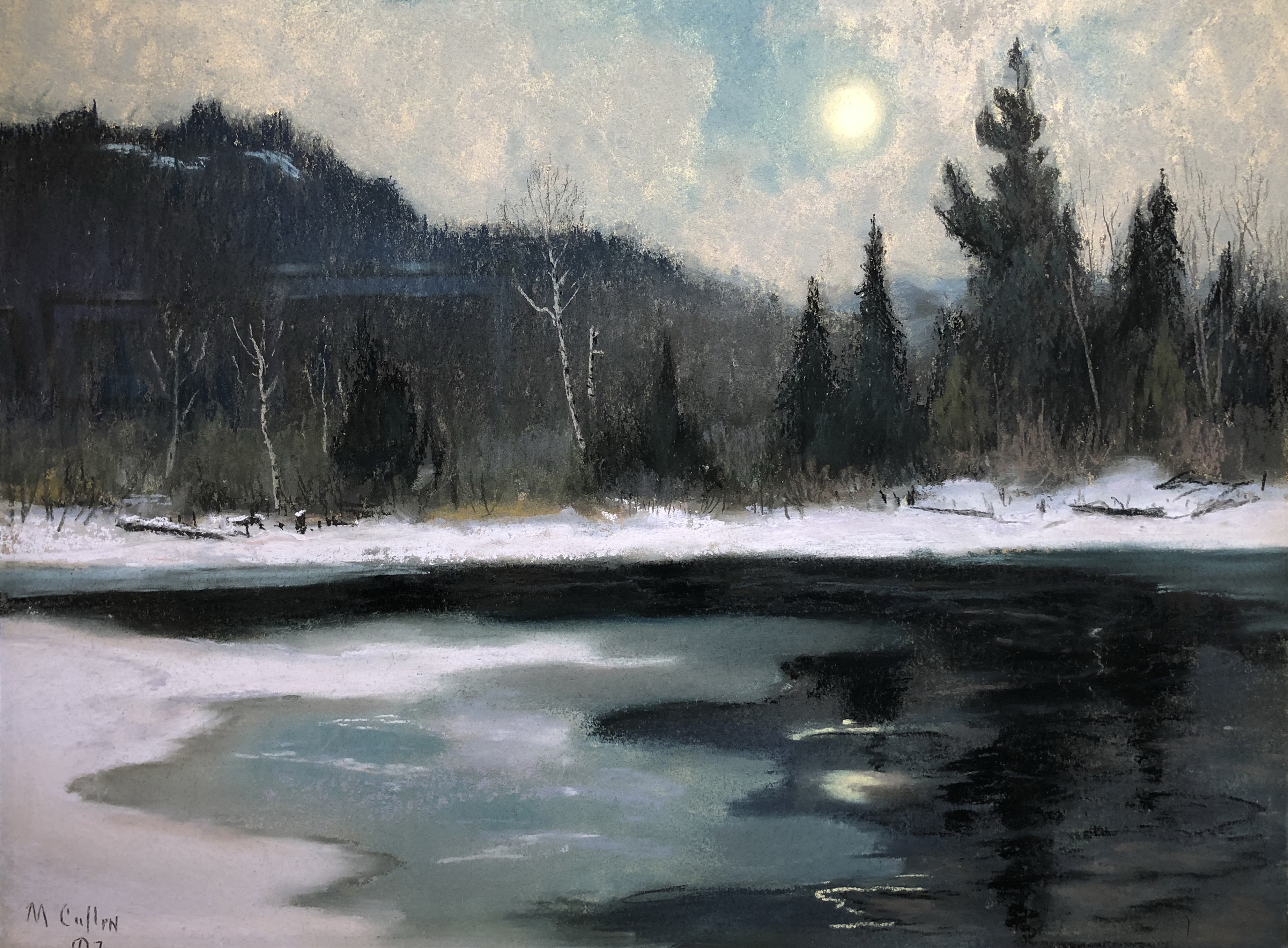 Maurice Cullen, Early Spring on Cache River, c. 1925