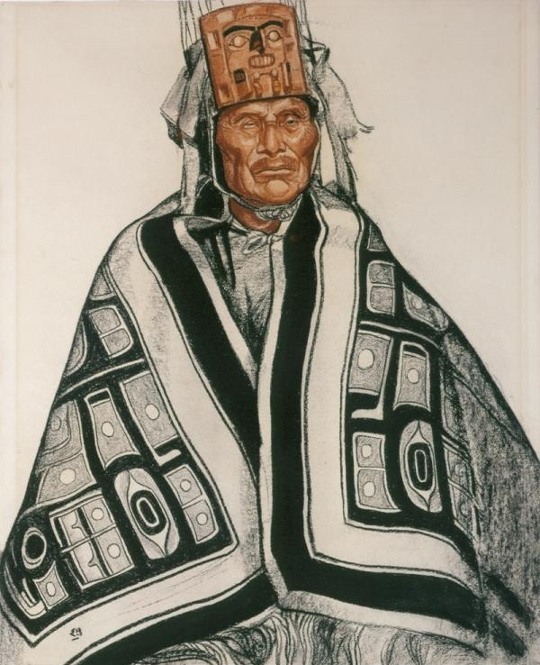 Edwin Holgate drawing of Gitxsan Chief Wii Hlengwah