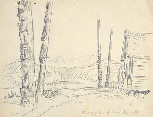 A.Y. Jackson | Hazelton, B.C. 1926 | Drawing 21.3 x 27.6 cm | National Gallery of Canada (nº 17470r) Purchased in 1973 | Courtesy of the Estate of the late Dr. Naomi Jackson Groves
