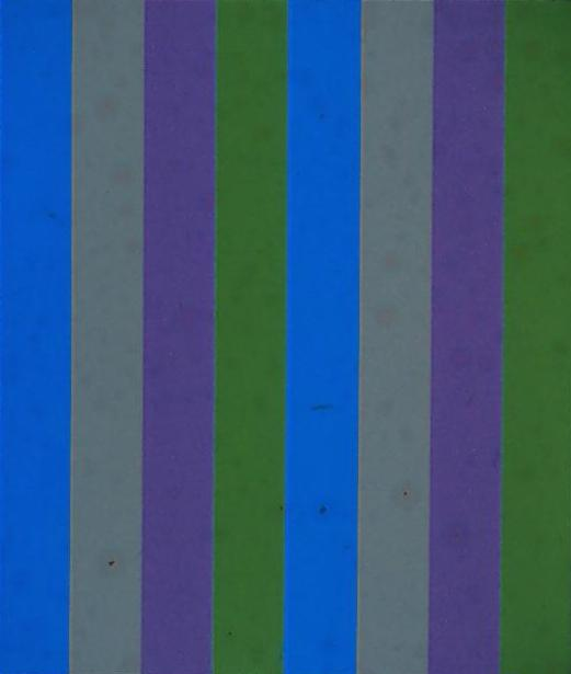 Guido Molinari, Sériel bleu vert, 1958, acrylic on canvas 177,8 x 152,4 cm (70 x 60 in.). Coll. : G. Molinari Foundation.